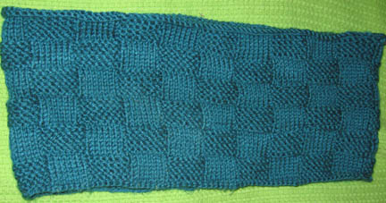 Green checkerboard cowl