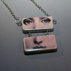 Pale Pink Face Necklace